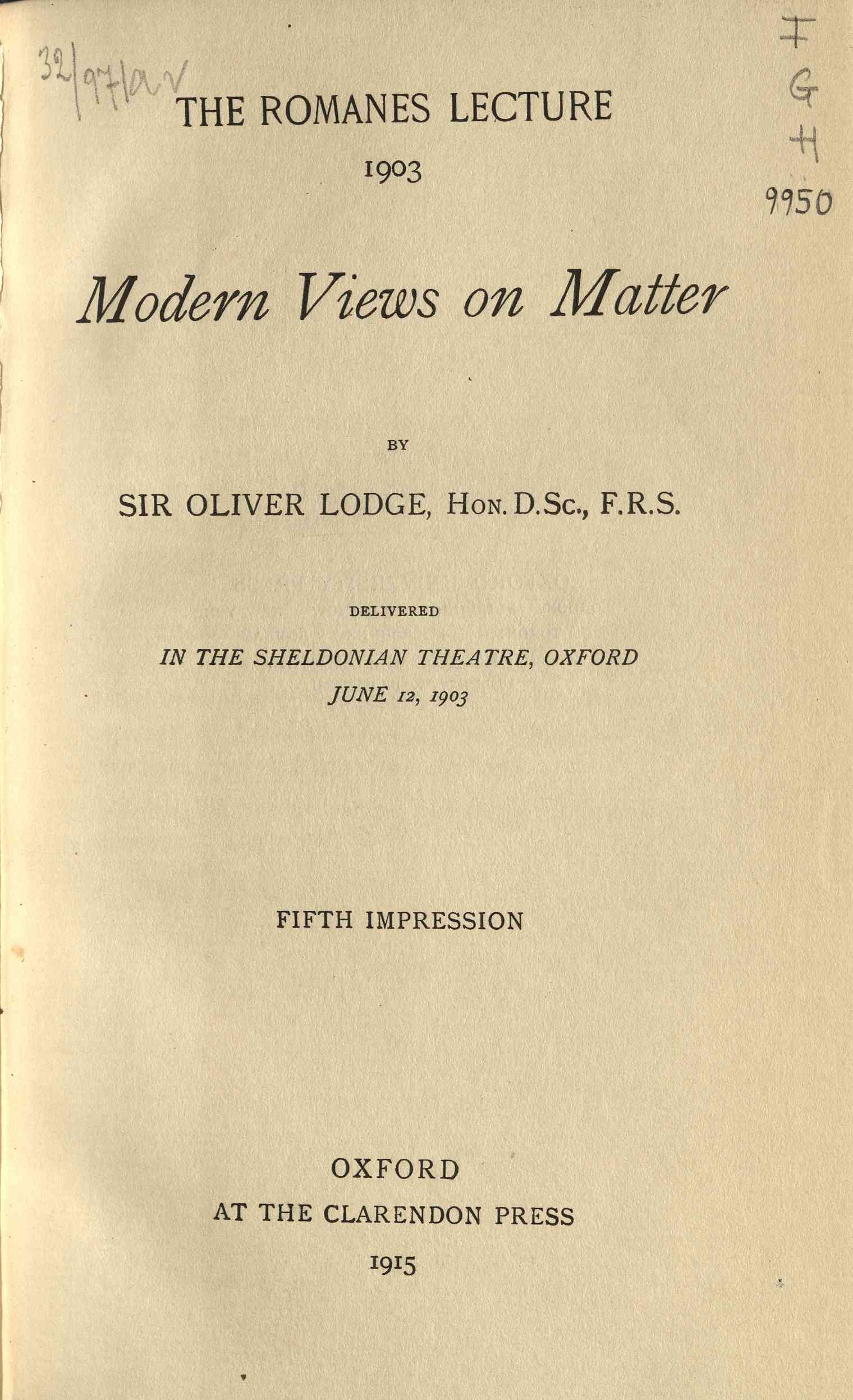 Modern views on matter