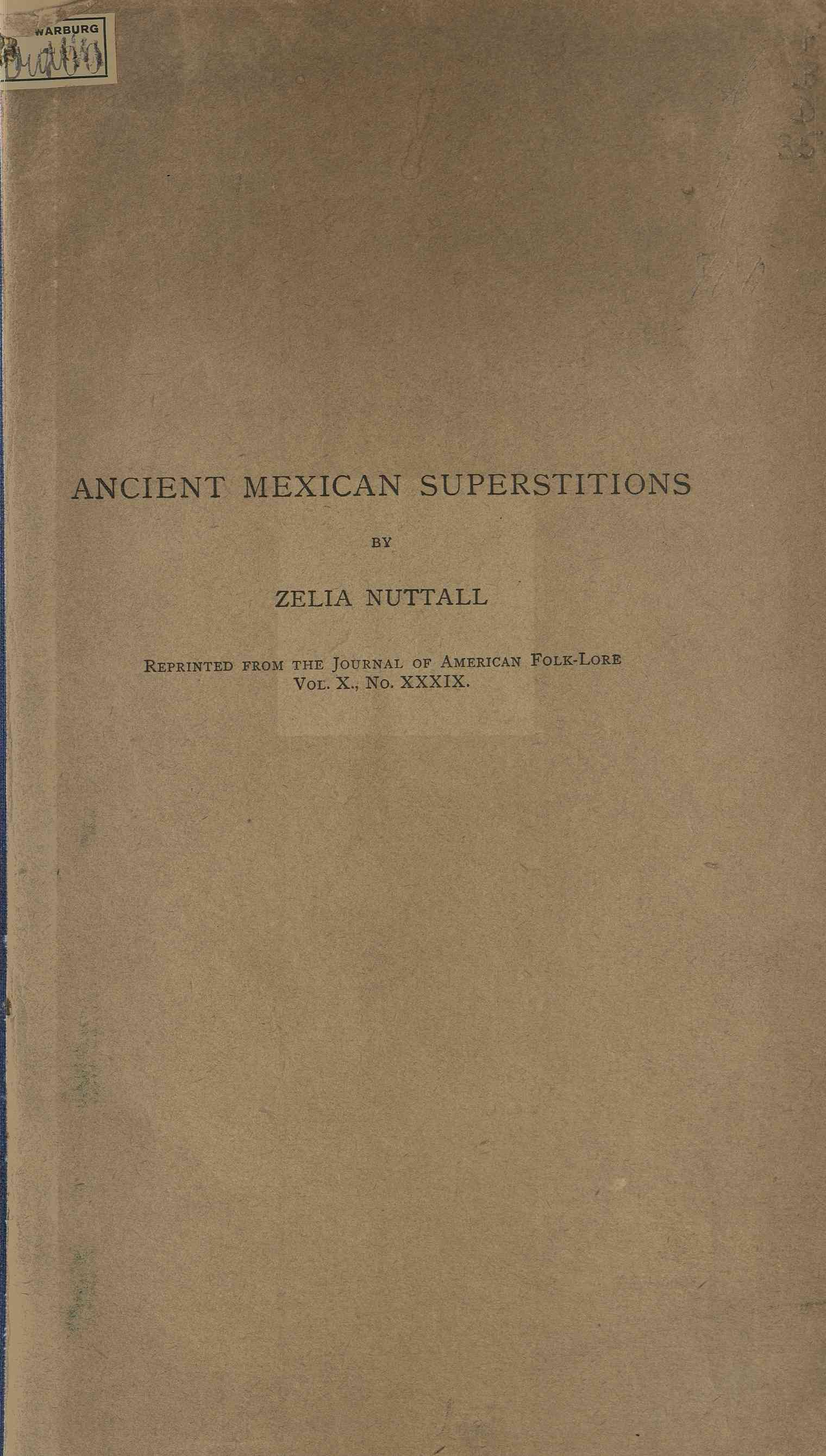 Ancient Mexican superstitions
