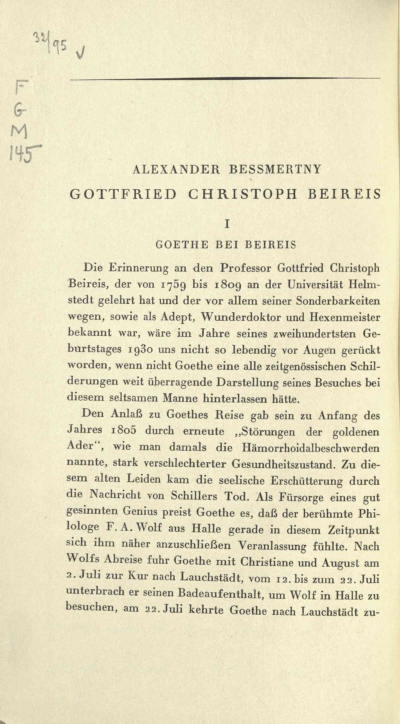 Gottfried Christoph Beireis
